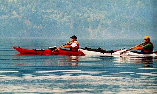 12' Single Kayak Rental  In Lopez Island, Washington