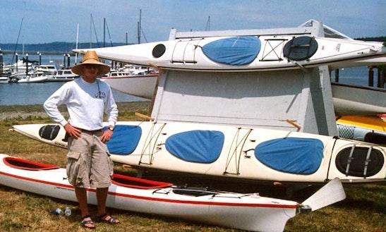 Fun Triple Kayak Rental In Lopez Island, Washington