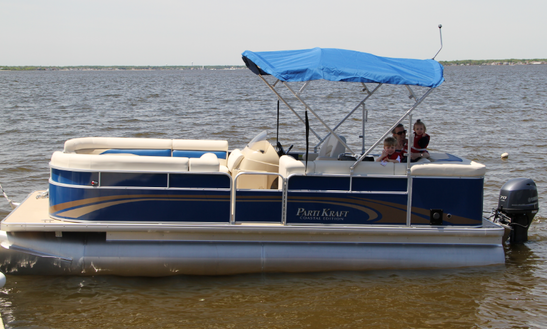 22' Pontoon Boat Rental In Jersey Shore, Seaside Heights, New Jersey United States
