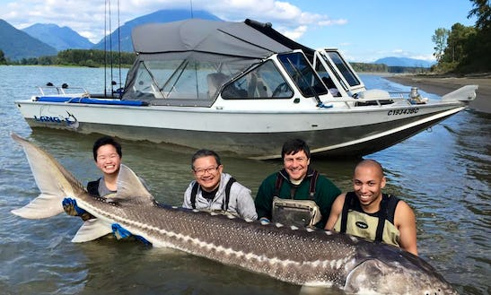 Enjoy Fishing On 22' North River Jet Boat In Vancouver, British Columbia