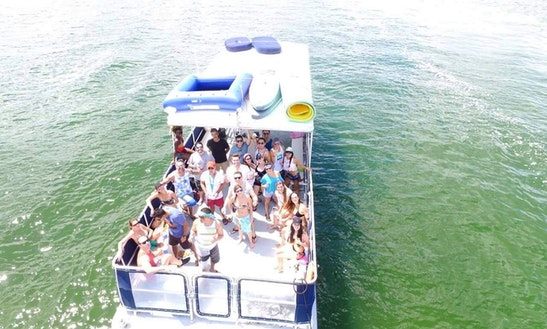40' Party Pontoon For Up To 39 People In Miami, Florida