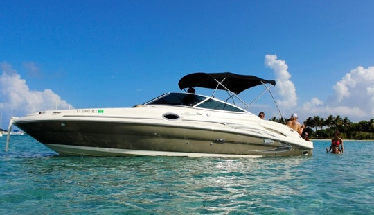 27ft Sea Ray Sundeck Boat Charter In West Palm Beach, Florida