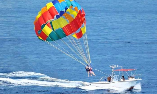 Parasailing Experience In The Beautiful Beach In Kuta, Bali