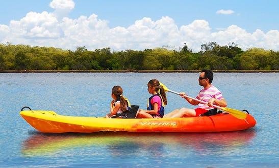 Viking Tandem Sit-on-top Kayak For Hire In Noosaville, Queensland - Australia