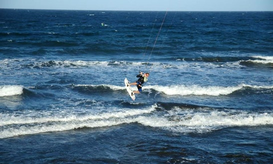 Kiteboarding In El Medano, Spain