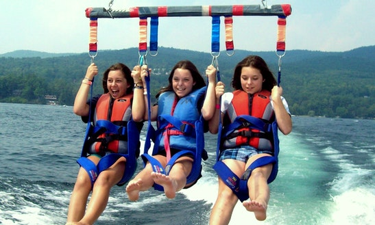 Parasailing In Lake George, New York