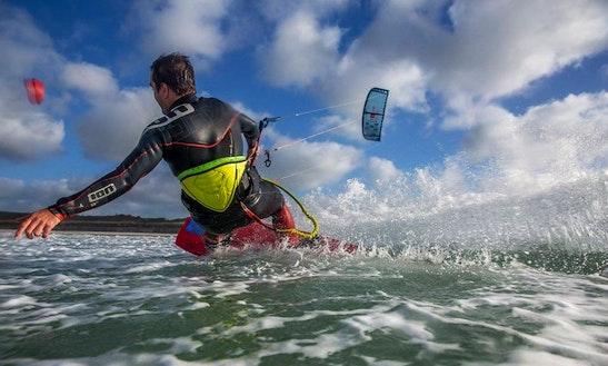 Kiteboarding In St Brelade, Jersey