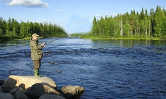 Guided Fly Fishing Trip In Rovaniemi