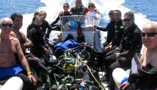 24' Rib Diving Trips In Villasimius, Italy