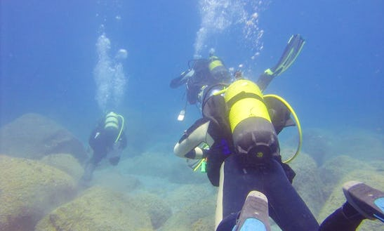 Diving, Open Water, Emergency, Recue, You Name It, In Lajes Do Pico
