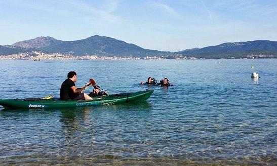 Scuba Diving Trip On A Kayak In Coti-chiavari, France