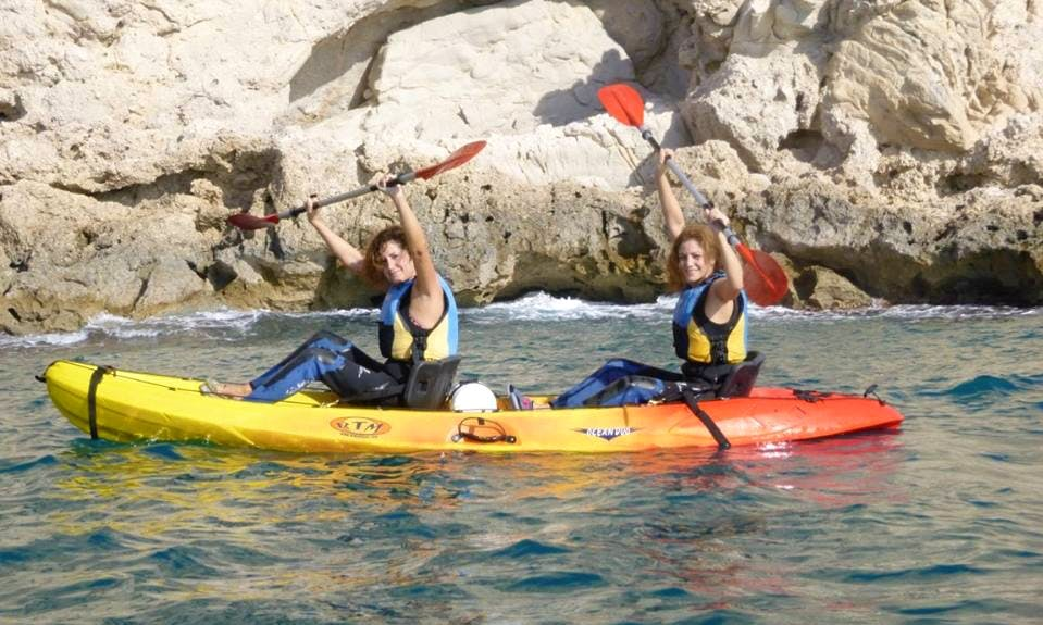 Rent a Stable and Safe Two-Person Kayak in Villajoyosa, Spain