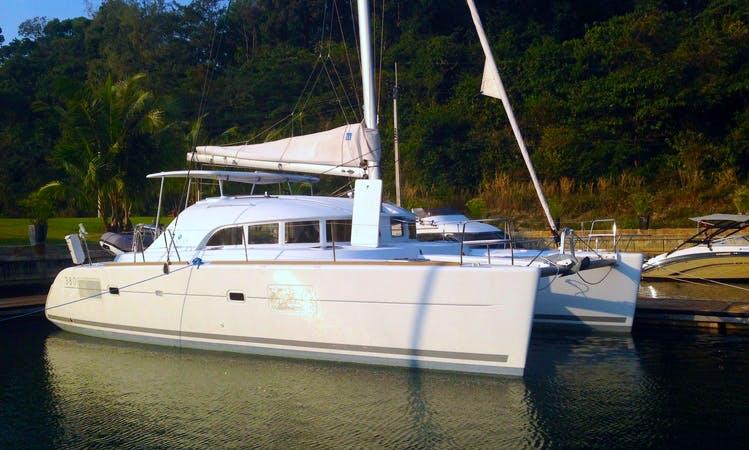 'Lagoon 380' (2015) 4 cabins Skippered Catamaran Charter @ Koh Chang