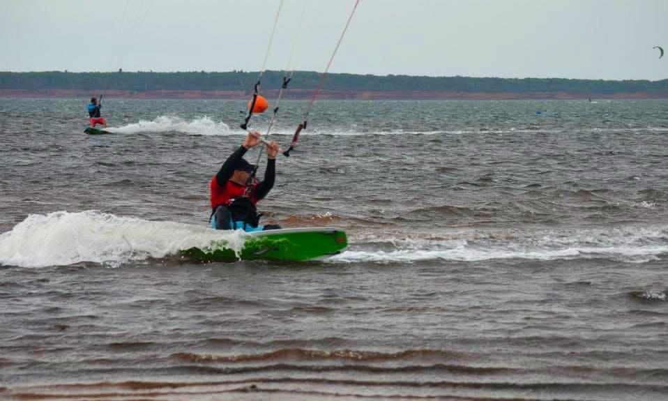 Kiteboarding in Cavendish