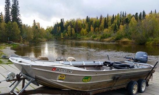 Jon Boat Fishing Charter In Wasilla, Alaska