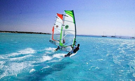 Windsurfing In Playa Blanca, Spain