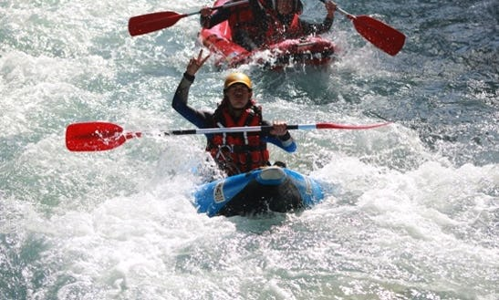 Thrilling Whitewater Trip With Inflatable Single Kayak In Verchaix, France