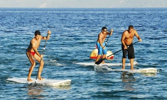 Branded Stand Up Paddleboards Ready to Rent in Bol, Croatia