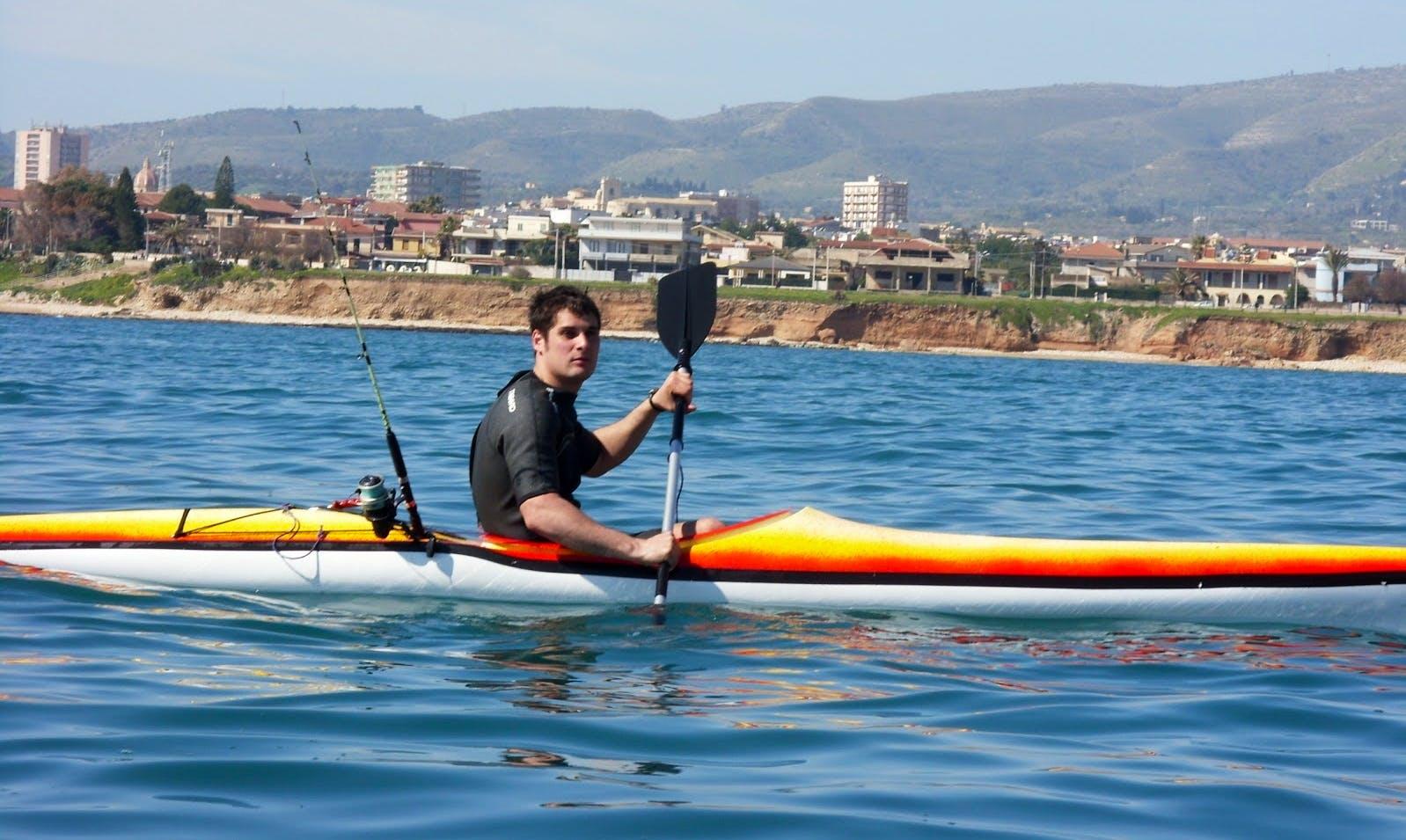 Fishing kayak Tour in Porto Cesareo