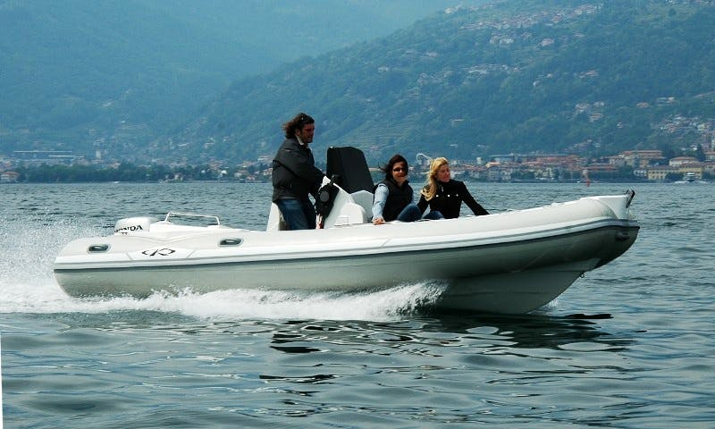 """Rent 19ft """"QLD 6.0"""" RIB In Musso, Italy"""
