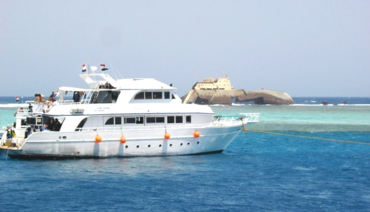 Motor Boat Trips Around Tiran Island In South Sinai