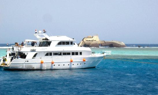 Motor Boat Trips Around Tiran Island In South Sinai