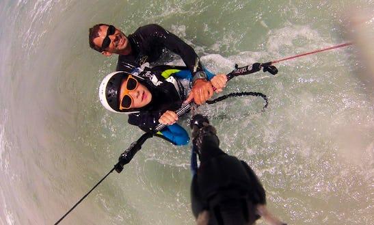 Kiteboarding In Caleta De Famara, Spain