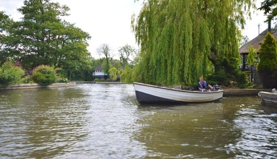 16ft Coulham Fishing Dinghy With Outboard (3 Persons) Charter In Hoveton