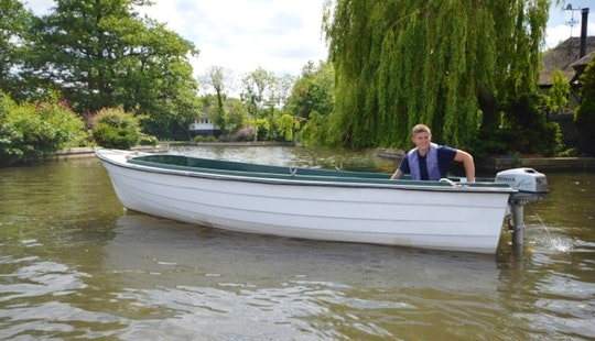 17ft Nordic Fishing Dinghy With Outboard (4 Persons) Charter In Hoveton