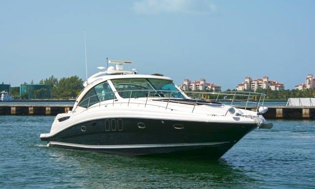 Enjoy 48′ Searay Sundancer for Rent in Miami