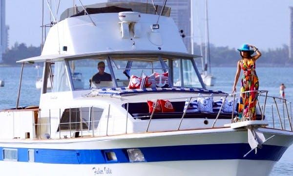 Charter 45' Trawler Commander in Miami Beach, Florida