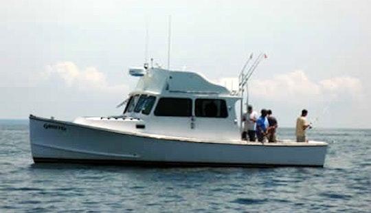 34' Sport Fisherman Charter In Provincetown, Massachusetts