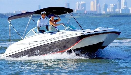 Charter 20' Deck Boat Black Hurricane In Miami Beach, Florida
