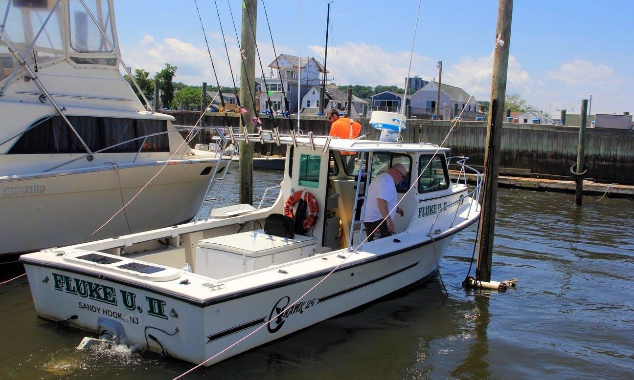 """29ft """"Fluke U. II"""" C-hawk Fishing Charter In Leonardo, New Jersey"""