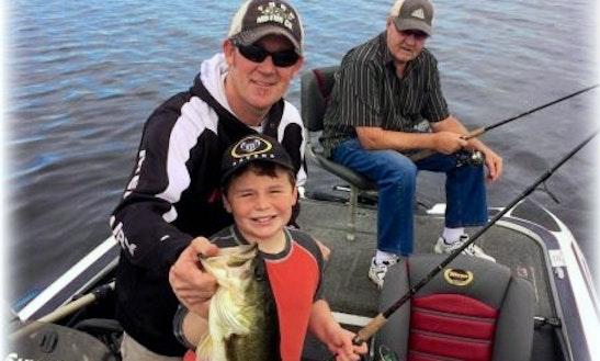 Bass Boat Fishing Charter In Saint Clair Shores, Michigan