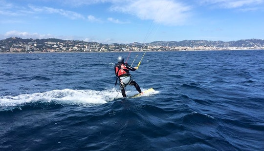 Kiteboarding In Cannes, France