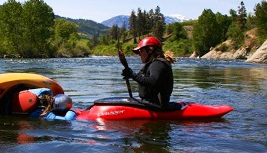 Hard Shell Kayak Instruction In Gold Bar