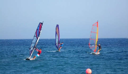Wind Surfing Lesson Coached By Sedonas Team In Limassol, Cyprus