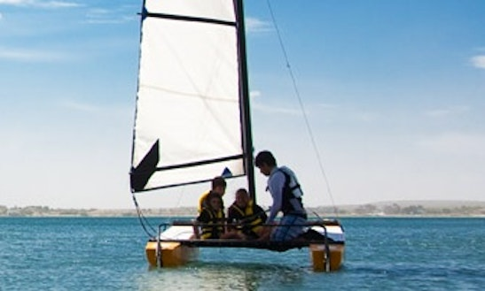 Catamaran Sailing In Puerto Madryn, Argentina
