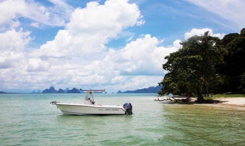 Sport Fishing Boat 23 Charter in Koh Keaw