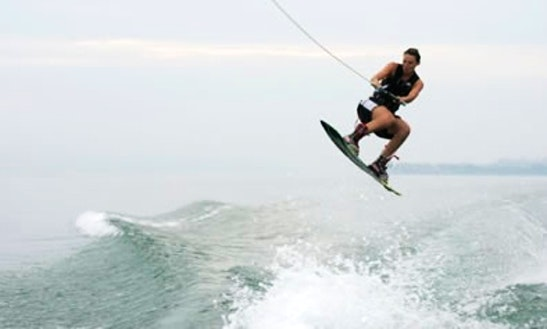 Wakeboarding In Catalunya, Spain