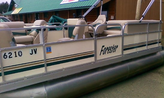 19' Forester Pontoon Rental In Crooked Lake Township, Minnesota