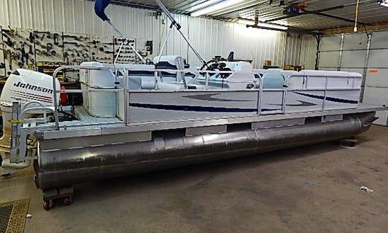 24' Party Barge Pontoon Rental In Crooked Lake Township, Minnesota