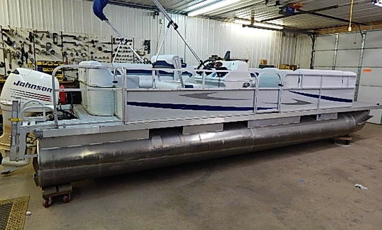 24' Party Barge Pontoon Rental In Crooked Lake Township, Minnesota