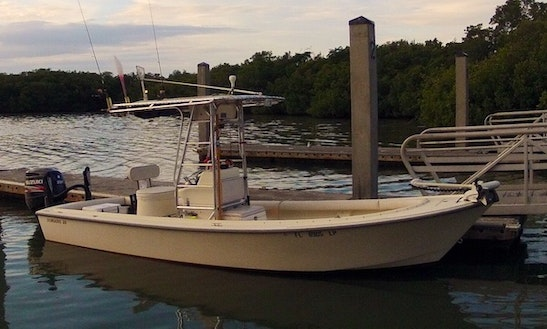 Fishing charter on 31ft connie jean contender center for Bonita springs fishing charters