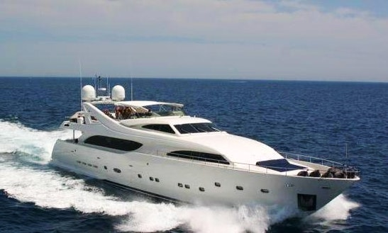 Charter 112' Ferretti Luxury Yacht In Varna