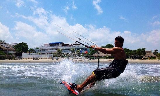 Kiteboarding In Bolivar, Colombia