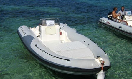 Rent a Self Dive 16 ft RIB for 8 People in Stintino, Italy