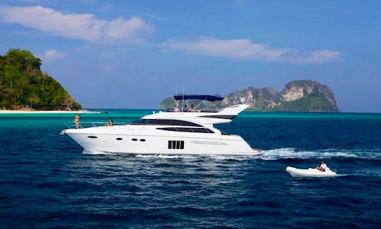 Princess 64 Power Mega Yacht Charter In Tambon Mai Khao