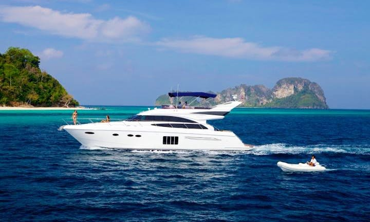 Princess 64 Power Mega Yacht Charter in Tambon Mai Khao